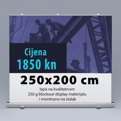 Roll-up 250x200cm