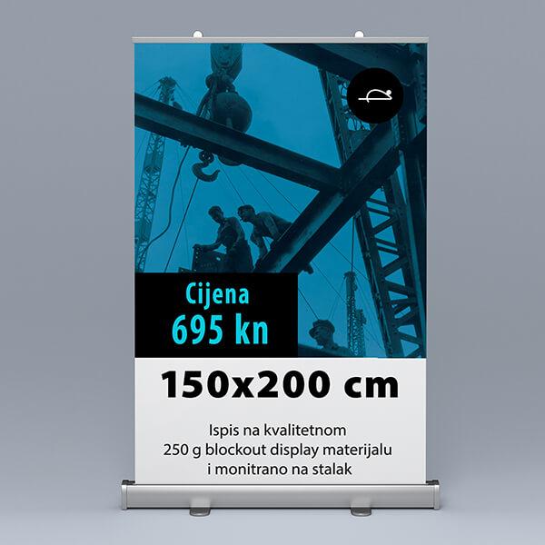 Roll-up 150x200cm 2