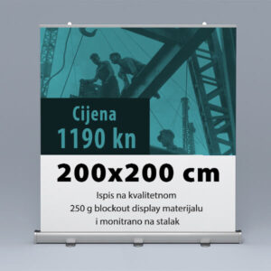 Roll-up 200x200cm