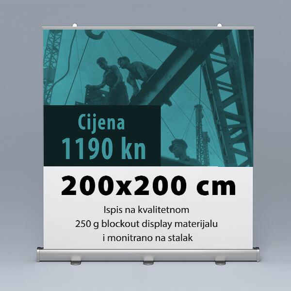 Roll-up 200x200cm 4